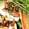 Galetter med selleri, squash, aubergine, gedeost og valnødder