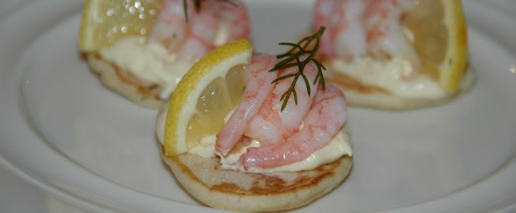 Post image for Blinis med rejer