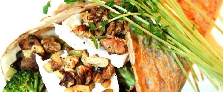 Post image for Galetter med selleri, squash, aubergine, gedeost og valnødder