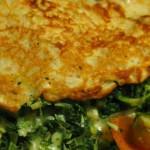 Pandekager med spinat og ost